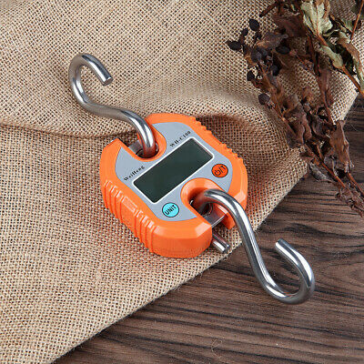 Portable 150kg/50g LCD Poultry Hanging Luggage Weight Electronic Hook Scale