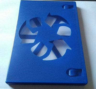 NEW! Blue 10 Pk Viva Elite Premium 14 mm DVD Case Single Eco Box 1 Disc Holder
