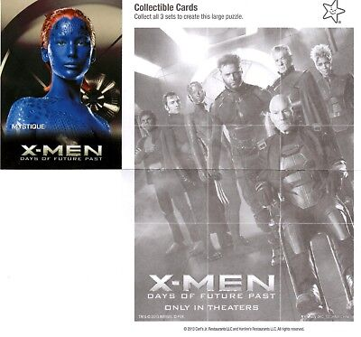 Marvel Comics: X-Man: Days of Future Past Carl's Jr. 2014 Trading Card Mystique