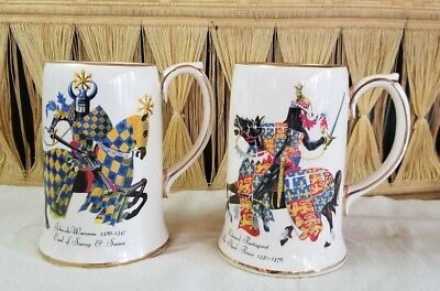 Knight Mugs Steins The Black Prince & Earl of Surrey and Sussex Medieval Cups
