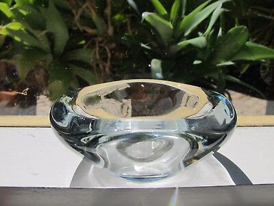 small art glass vintage collectable clear trinket bowl ashtray decorator piece