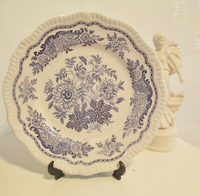 Set of 2 SPODE - BLUE ROOM REGENCY DESIGN  - Collectors Plates - Made in England