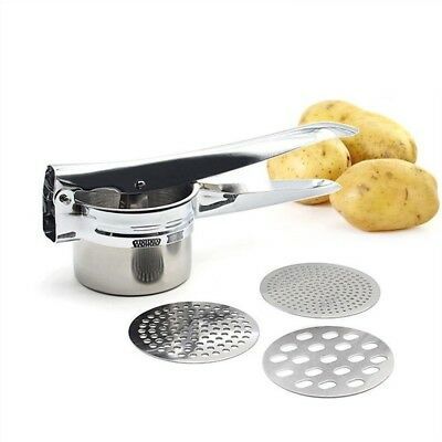 (Ricer with discs) - Mash Potato Ricer Set - Yamoo Stainless Steel Ricer Set,