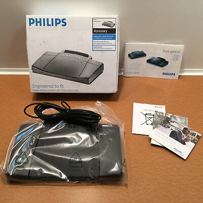 New Philips Foot Control Pedal Black LFH2210/00 Open Box, Flawless
