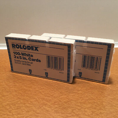 200 New / Sealed Rolodex C35 White 3 x 5 Rotary Refill Cards (2 Total 100 Packs)