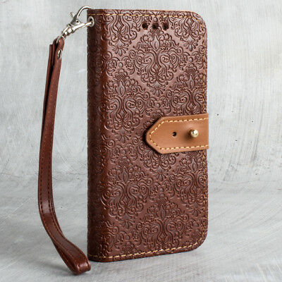 new style ed41a f8476 FOR IPHONE X Vintage Wallet Case + Detachable Cover Wristlet Strap Floral  Colors
