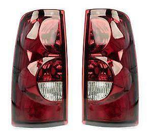 NEW Taillamp Taillight Pair Set Fits 03 Chevrolet Silverado Rear Truck Pickup