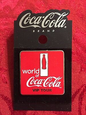 World of Coca-Cola VIP Tour Lapel Pin NEW on hang tag - Tour Exclusive
