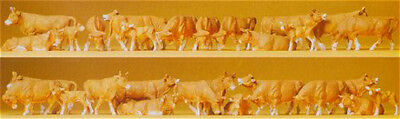 HO Scale Animals - Pack of 30 Brown and White Cows
