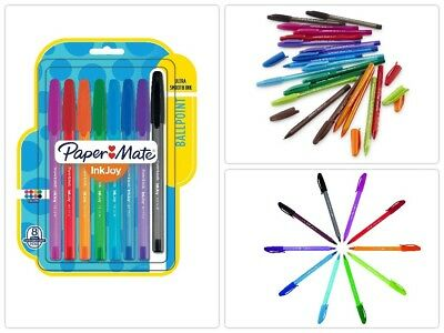 8 Pack Paper Mate InkJoy 100ST Ballpoint Pens Medium Point Assorted Ink Colors