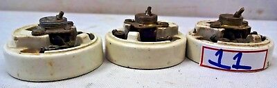 Vintage Ceramic & Brass Electric Switch British Make Crabtree Vitreous Rare # 11