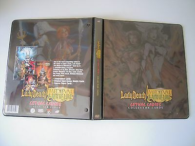 Lady Death Medieval Witchtblade  Binder Avec Card Signee  Pulido A L'interieur