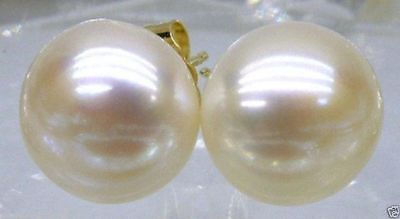 wholesale AAA akoya 9-10mm white pearl earrings 14k Gold Limited time promotion!