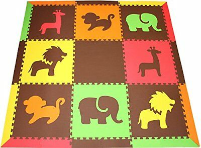 "Infant Foam Play Mats Sloped Edges Large 2' Floor Tiles 78"" x 78"" (6.5' x 6.5')"
