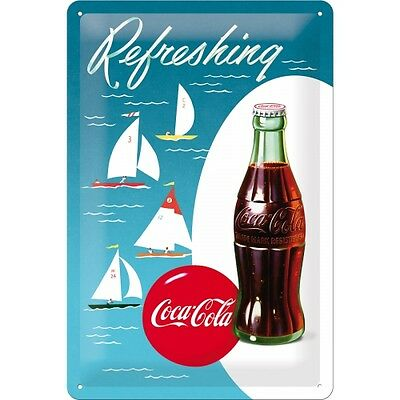 Targa in Latta Coca-Cola - Sailing Boats 20 x 30 in metallo stampato e decorato