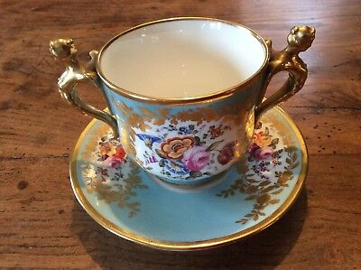 19th century Cabinet Cup and Saucer, French
