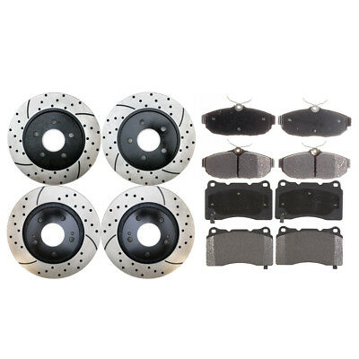 Full Set of Performance Rotors & Pads fits Ford Mustang