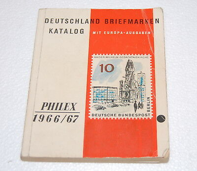 Philex 1966 1967 Deutschland Briefmarken Katalog Deutsche Bundespost DDR Post
