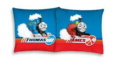NEW THOMAS and Friends James cushion cover 40x40cm 100% COTTON train case
