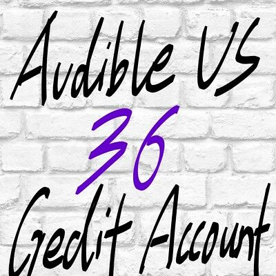 Special offer Audible US account with 36 credits prefilled ready to use