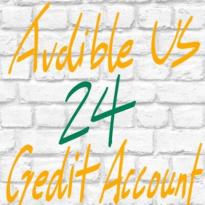 Ship in hours Audible US account with 24 credits all at once ready to use