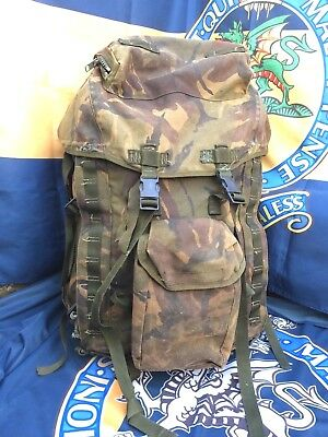 British Army Combat Rucksack Bergen 100L DPM Long Convulted Back Hiking, Scouts