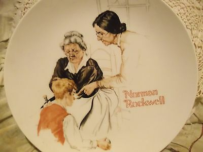 The Broken Window first issue River Shore Ltd. 1981 Norman Rockwell plate