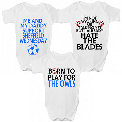 Funny Sheffield Wednesday FC Baby Grow / Sleepsuit - Funny Owls Babies Clothing