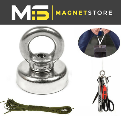 ALL SIZES: Strong Fishing Magnet Recovery Magnet Treasure Metal Detector Rope