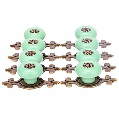 SunKni 8Pcs Vintage Ceramic Knobs Handles Pulls for Cabinet Drawer Closet Door