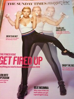 TRACY ANDERSON JAMES RHODES FITNESS SUNDAY Times UK 7 January 2018