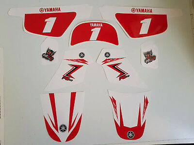 Kit deco pour moto cross Yamaha PW50 PW 50 Red Vintage Haute Resistance