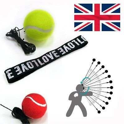 Boxing Fight Reflex Punch Ball with Head Band Reflex Speed Set Kit Excercise UK