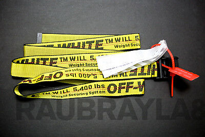 Off-White Tie Down Yellow Nylon Industrial Iron Buckle Belt NYC