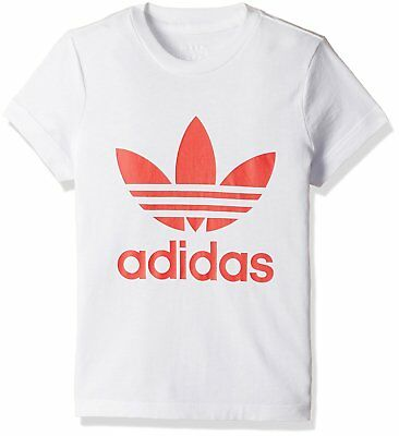 Girls adidas Originals Trefoil T-shirt S96091 For Ages 7 to 14 Years