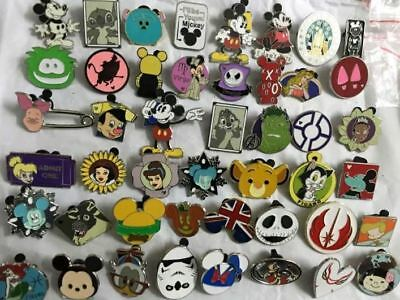 Disney Pins Trading Lot of 50 Pins No Duplicates Lapel Disneyland Random Mixed