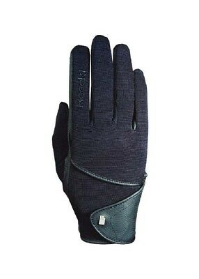 (7, Black) - Roeckl Madison Winter Riding Gloves. Free Shipping