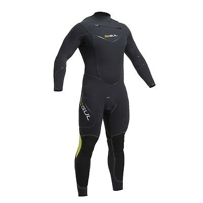 (Large) - Gul Code Zero 4/3mm Chest Zip Blindstitched Wetsuit 2017 - Black
