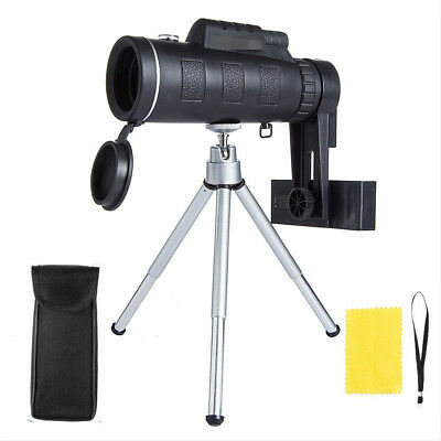 Monocular Telescope 40X60 HD Dual Focus Optical + Tripod Compass Hunting Hiking