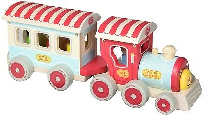 Indigo Jamm Sammy Steam Train - Complete With 3 Removable Wooden Passengers &