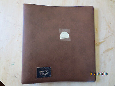 No-42 - FDC  ALBUM   20  PAGES  DOUBLE  SIDED -4  RING  BINDER--GOOD ORDER