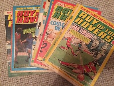 Collection Of 13 Roy Of The Rovers Comics  Various Years