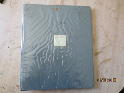 No-48 - FDC  ALBUM   20  PAGES  DOUBLE  SIDED -3  RING  BINDER--GOOD ORDER