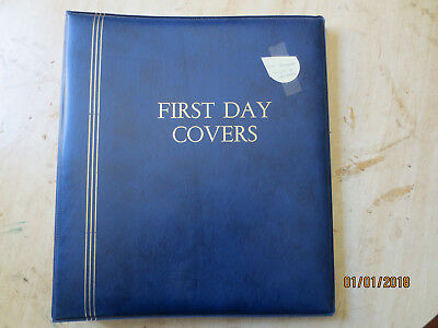 No-53 - FDC  ALBUM   20  PAGES  DOUBLE  SIDED -3  RING  BINDER--GOOD ORDER