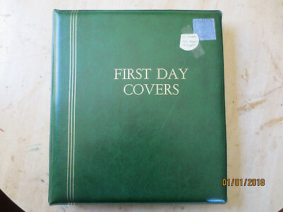 No-57- FDC  ALBUM   21  PAGES  DOUBLE  SIDED -3  RING  BINDER--GOOD ORDER