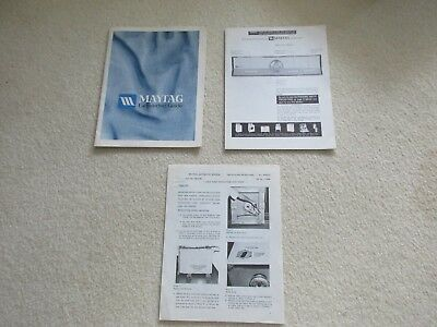 Owner's Manual Maytag Launder Guide #2-03953,operating instructions,installation