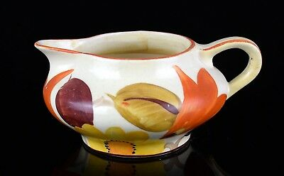 -SUSIE COOPER for GRAYS POTTERY- c1928 ART DECO FLOWER LEAF MILK TEA JUG -7956-