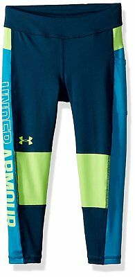 New Under Armour Girls Colorblocked Cropped Leggings Size Small Large and XL