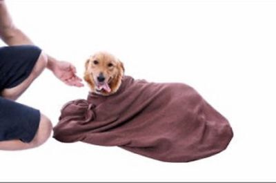 Microfiber Doggy Dry Bag Towel To Keep Dog Warm & Dry & Clean, Highly Absorbent