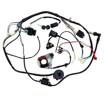 Atv Complete Wiring Harness Cdi Stator Ignition Electric Mini 50 70